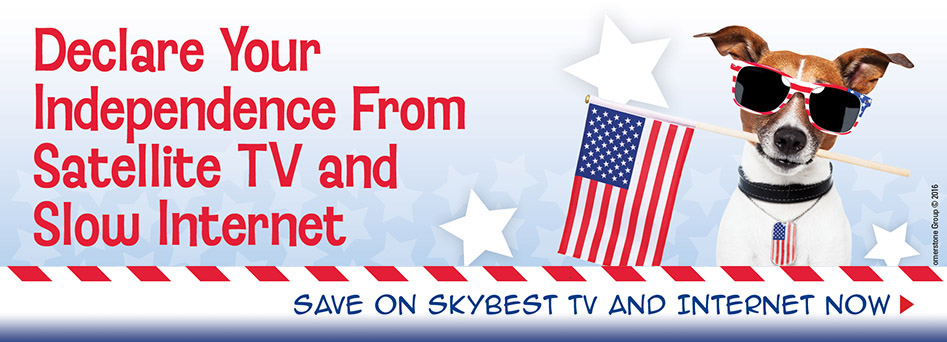 Declare your independence from satellite TV and slow internet. Click here.