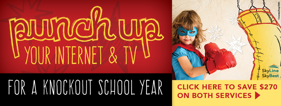 Punch up your Internet and TV. Save $270. Click here.