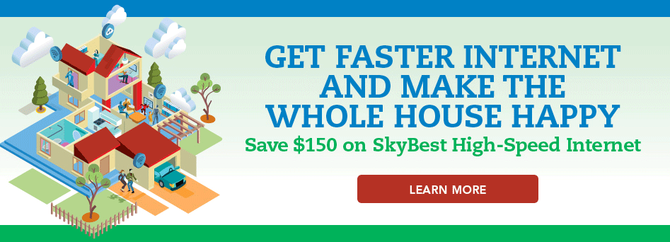 Get faster internet and make the whole house happy. Click here.