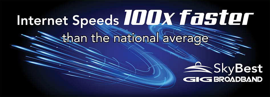 Internet Speeds 100 Times Faster than the National Average. Click here.